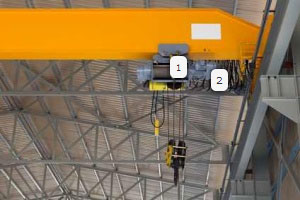 force control on the overhead crane with load pin