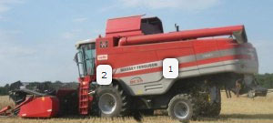 loadpin in harvesting machinery for various measures